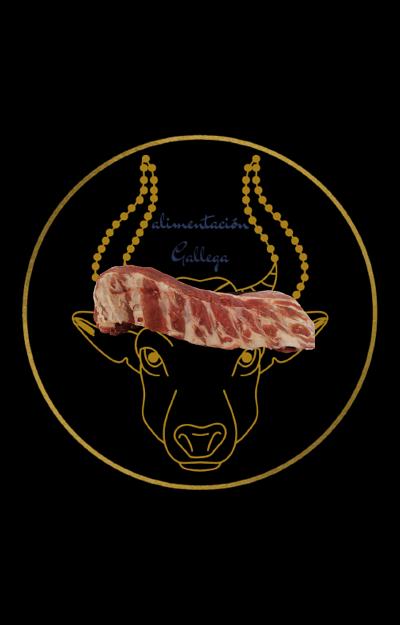 costilla de cerdo castañas de alimentación gallega